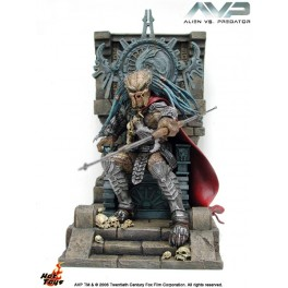 Figura Elder Predator En Trono Alien vs Predator Statue Model Kit 30 cm Hot Toys