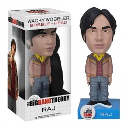 Figura The Big Bang Theory Wacky Wobbler Cabezón Raj 15 cm Funko