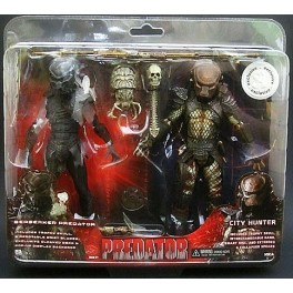Figura Berserker Predator vs City Hunter Predator Predator 2-Pack Action figure 18 cm Neca