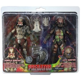 Figura Battle Damaged Jungle Hunter vs City Hunter Predator 2-Pack Action figure Exclusive 20 cm Neca