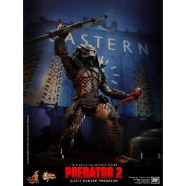 Figura City Hunter Predator  2 Collectible Action figure 1/6th 36 cm MMS 173 Hot Toys