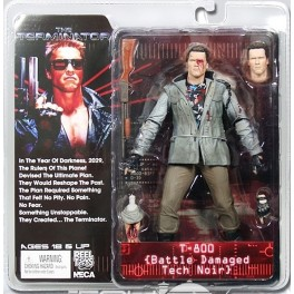 Figura T-800 Battle Damaged Tech Noir Terminator Serie 2 Action figure 18 cm Neca