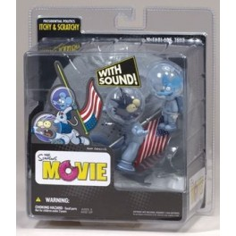 Figura Rasca y Pica Los Simpsons Movie Mit Sound 16 cm Mcfarlane