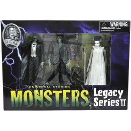 Figura Dracula, Frankenstein, La novia de Frankenstein Universal Monsters Series Pack 18 cm Diamond Select