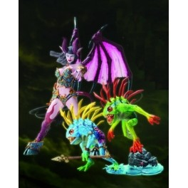 Figura Succubus Demon: Amberlash & Murloc 2-pack: Fish-ey World of Warcraft Series 4 Action figure Set (2) 18 cm DC Unlimited